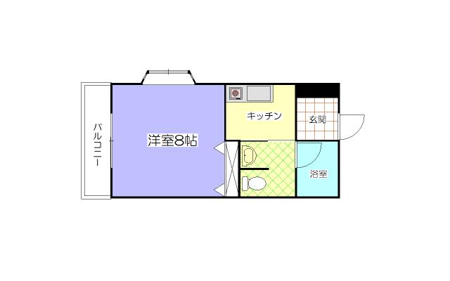 広めの洋室8帖