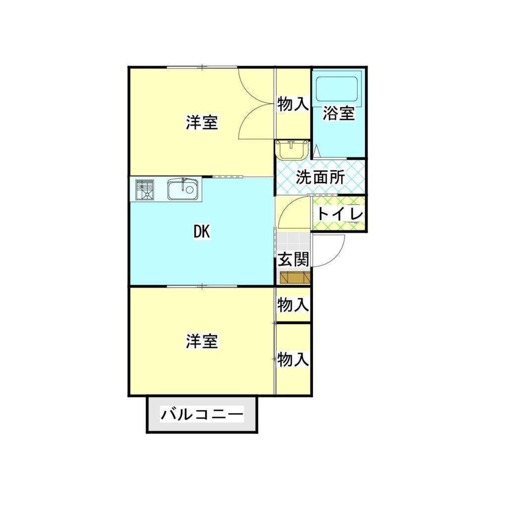 フィオーレ鳴川201間取