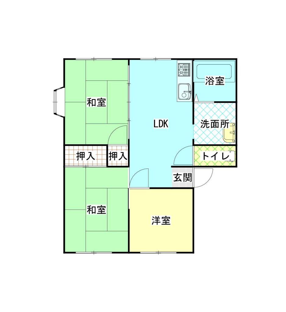 イモセハイツB棟203 間取