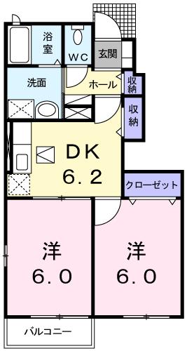 ガーデンハウスブルックⅡ番館103間取