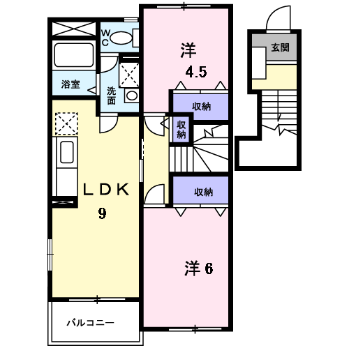 シャポールージュM 204 間取