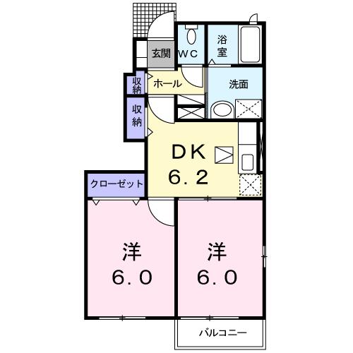 メゾン・ド・リリー 101 間取