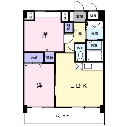 サンシャインKAWAOKA202 間取