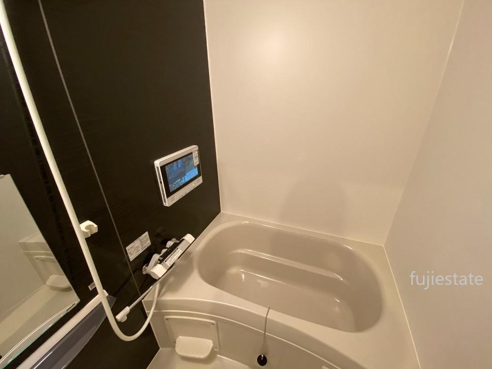 浴室にテレビがついています★